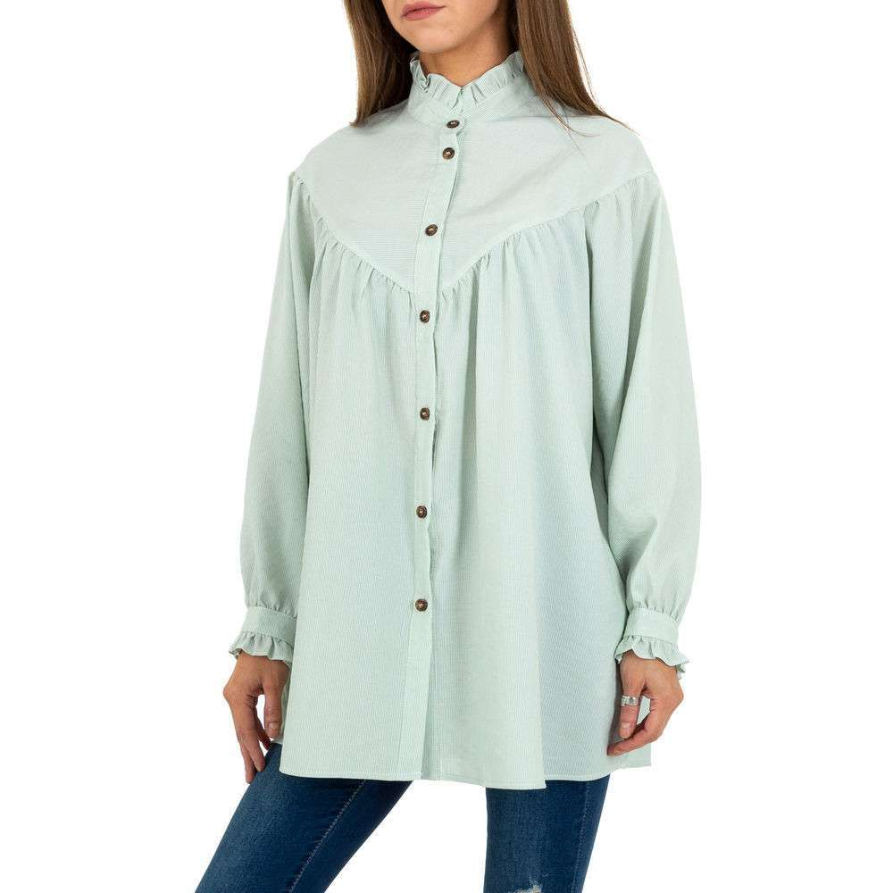 Bluză lungă de damă JCL - verde