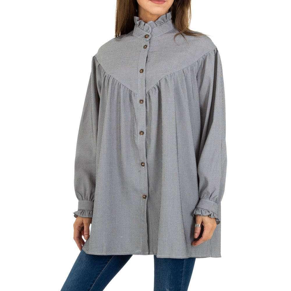 Bluză lungă de femei JCL - gri