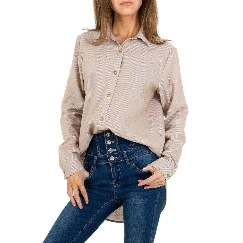 Bluză lungă de femei JCL - bej