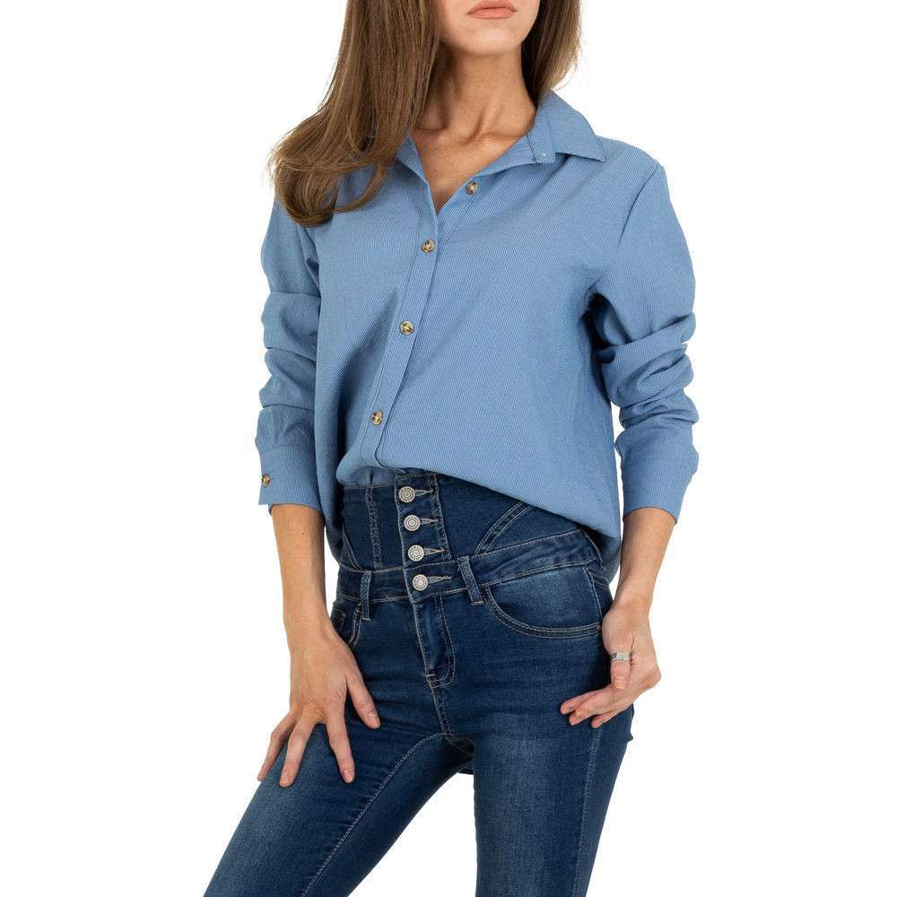 Bluză lungă de femei JCL - albastră