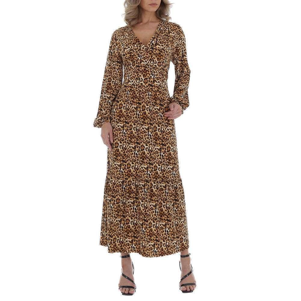Rochie maxi pentru femei de la JCL - leopard