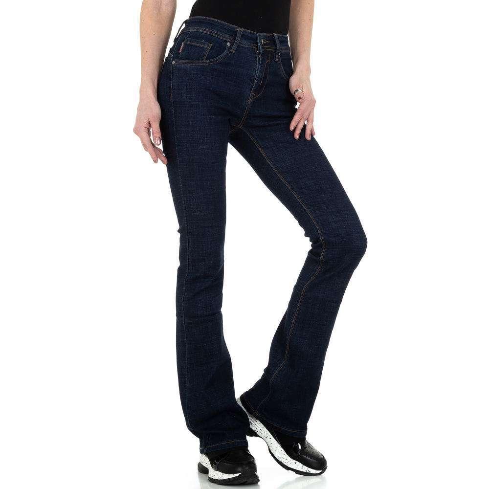 Blugi bootcut pentru femei de Megusto Jeans Wear - DK.blue