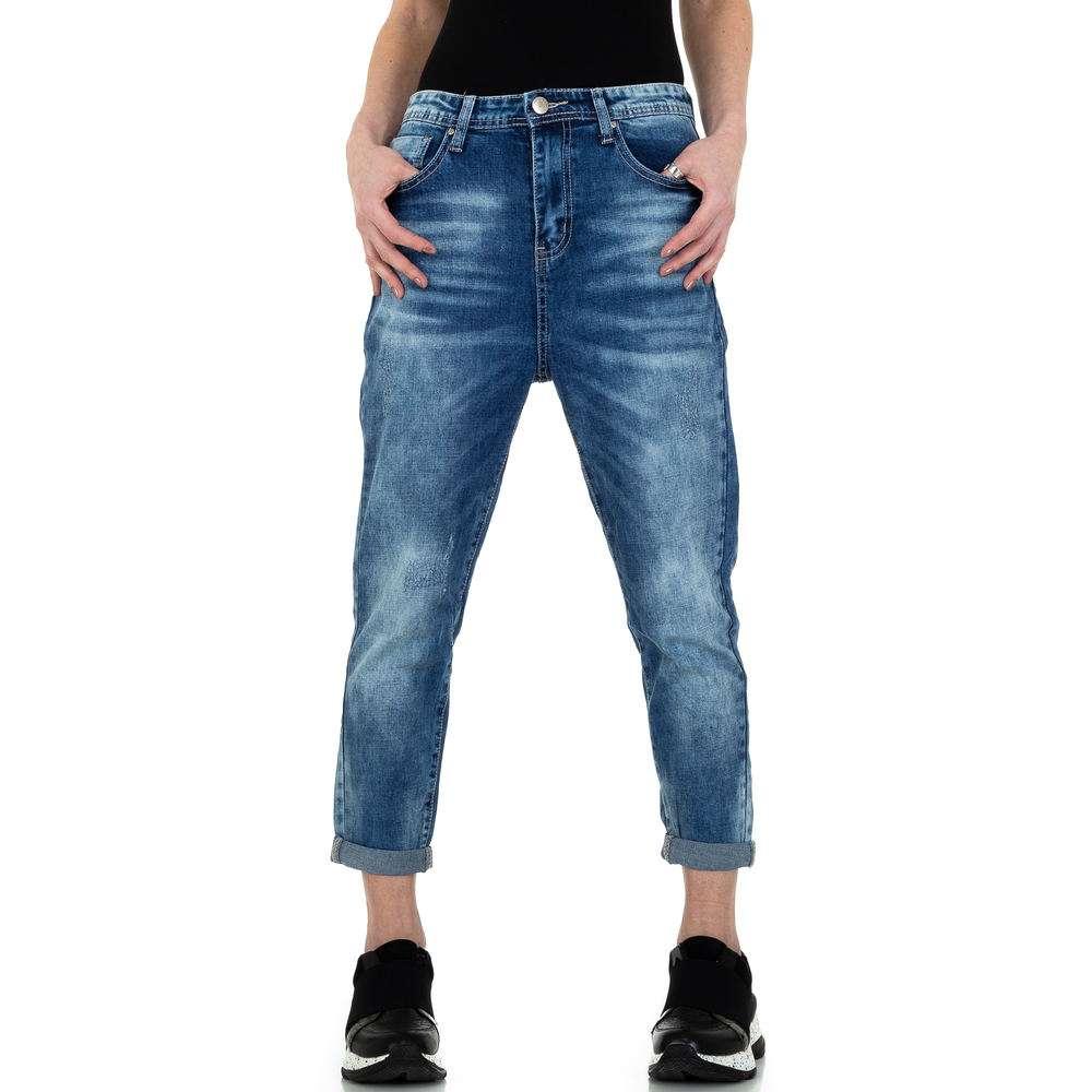 Blugi iubiți de femei Gress Jeans Wear - albastru
