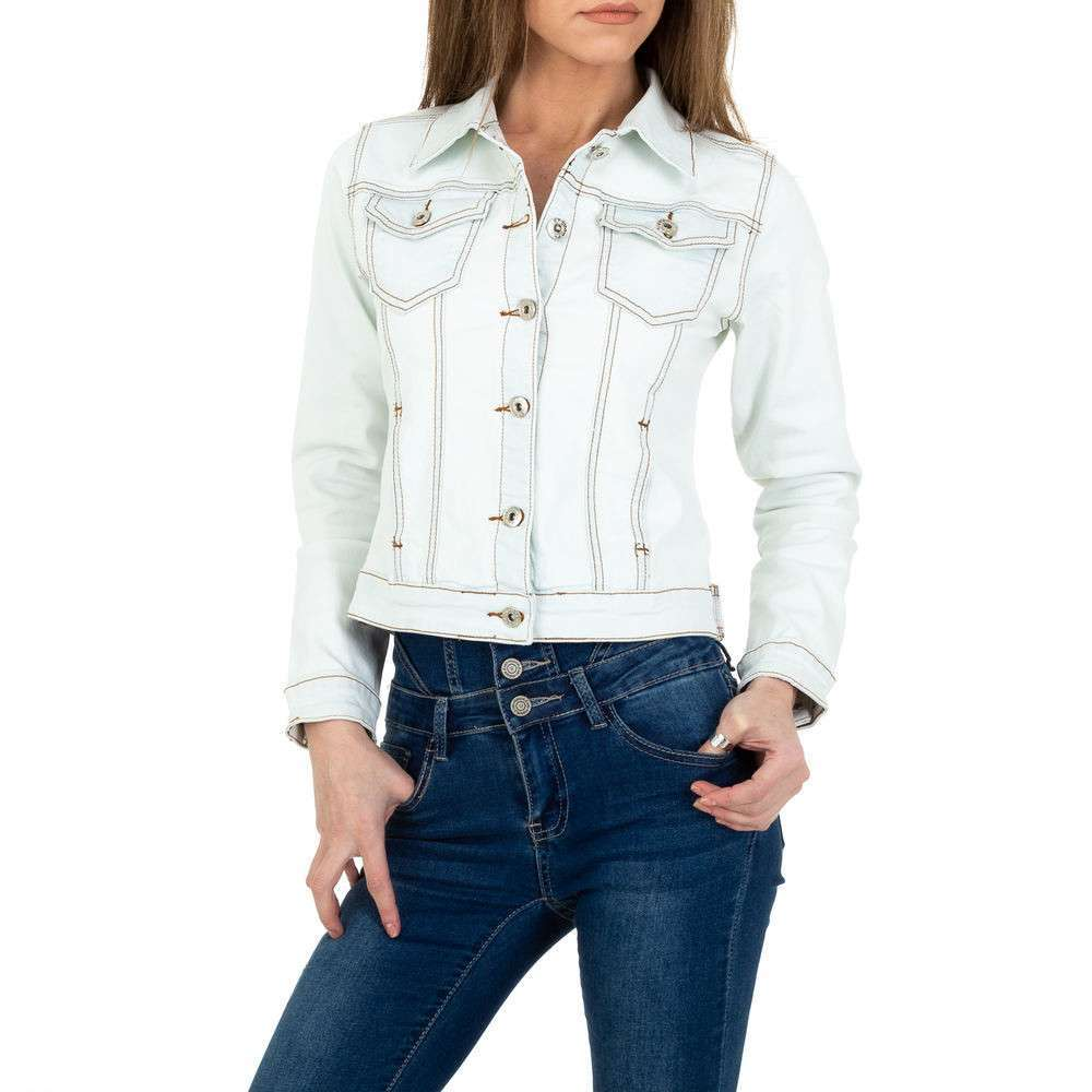 Geacă de blugi pentru femei de la ABC Fashion - alb