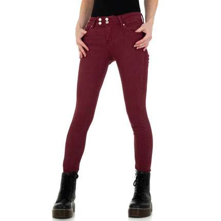 Damen Skinny Jeans von ABC Fashion - wine
