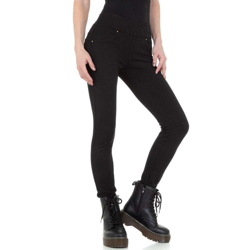 Pantaloni skinny de dama de la M. Sara Denim - negru