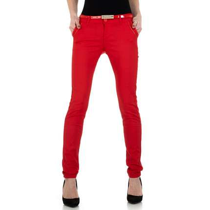 Damen Chinos von M. Sara Denim - red