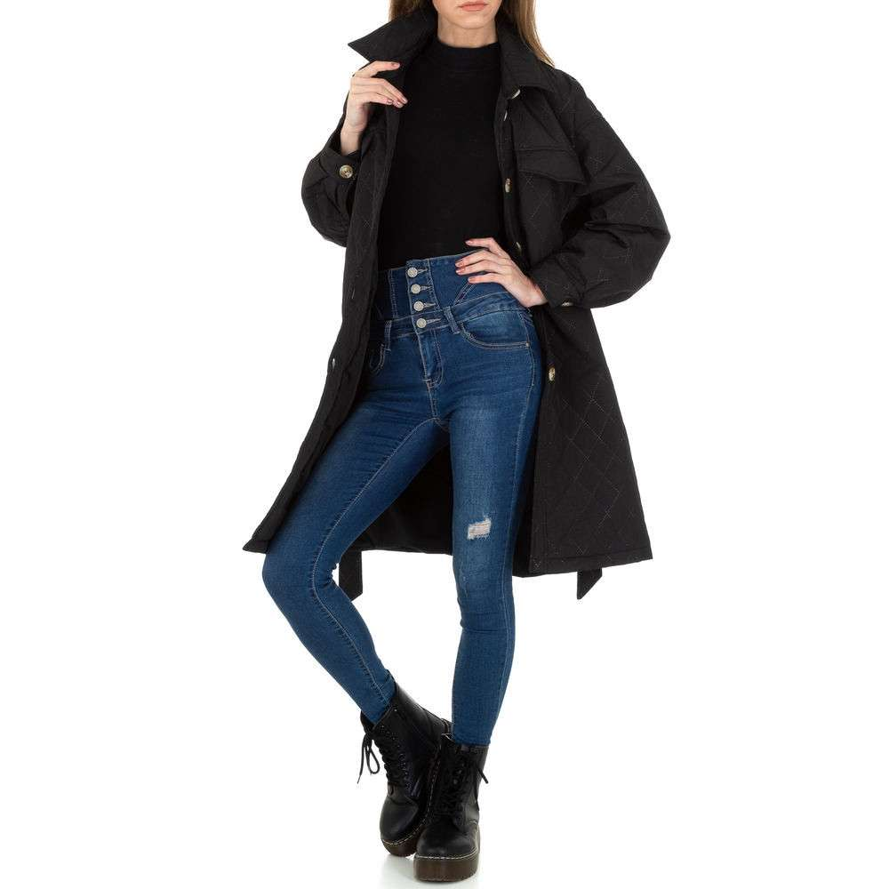 Palton scurt pentru femei de JCL - negru