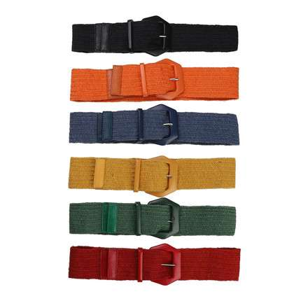 Damen Gürtel black, blue, green, orange, red, yellow - 12...