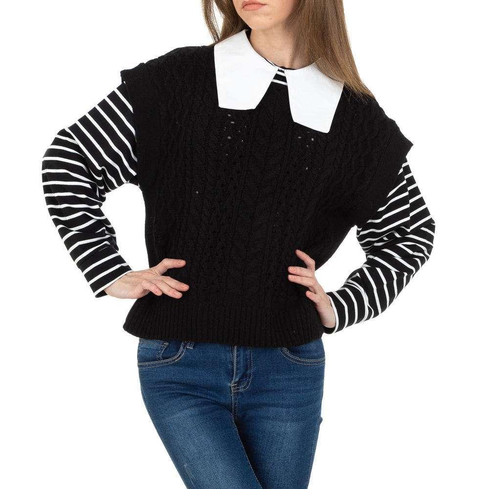 Pulover tricotat pentru femei de JCL Gr. O singură mărime - negru