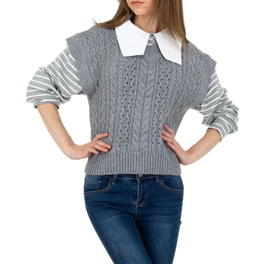 Pulover tricotat pentru femei de JCL Gr. O singură mărime - gri