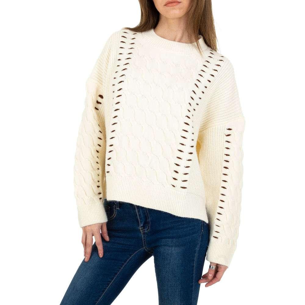Pulover tricotat pentru femei de JCL Gr. O singură mărime - cremă
