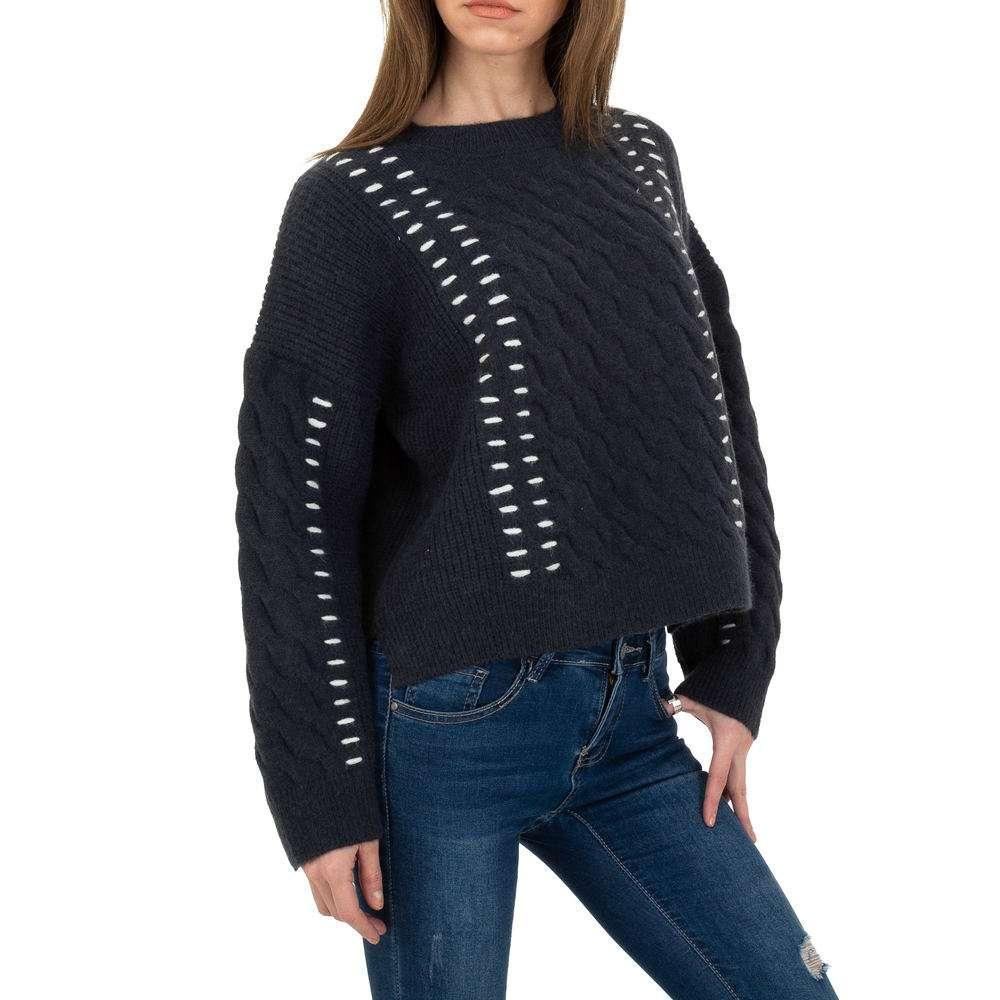 Pulover tricotat pentru femei de JCL Gr. O singură mărime - DK.grey
