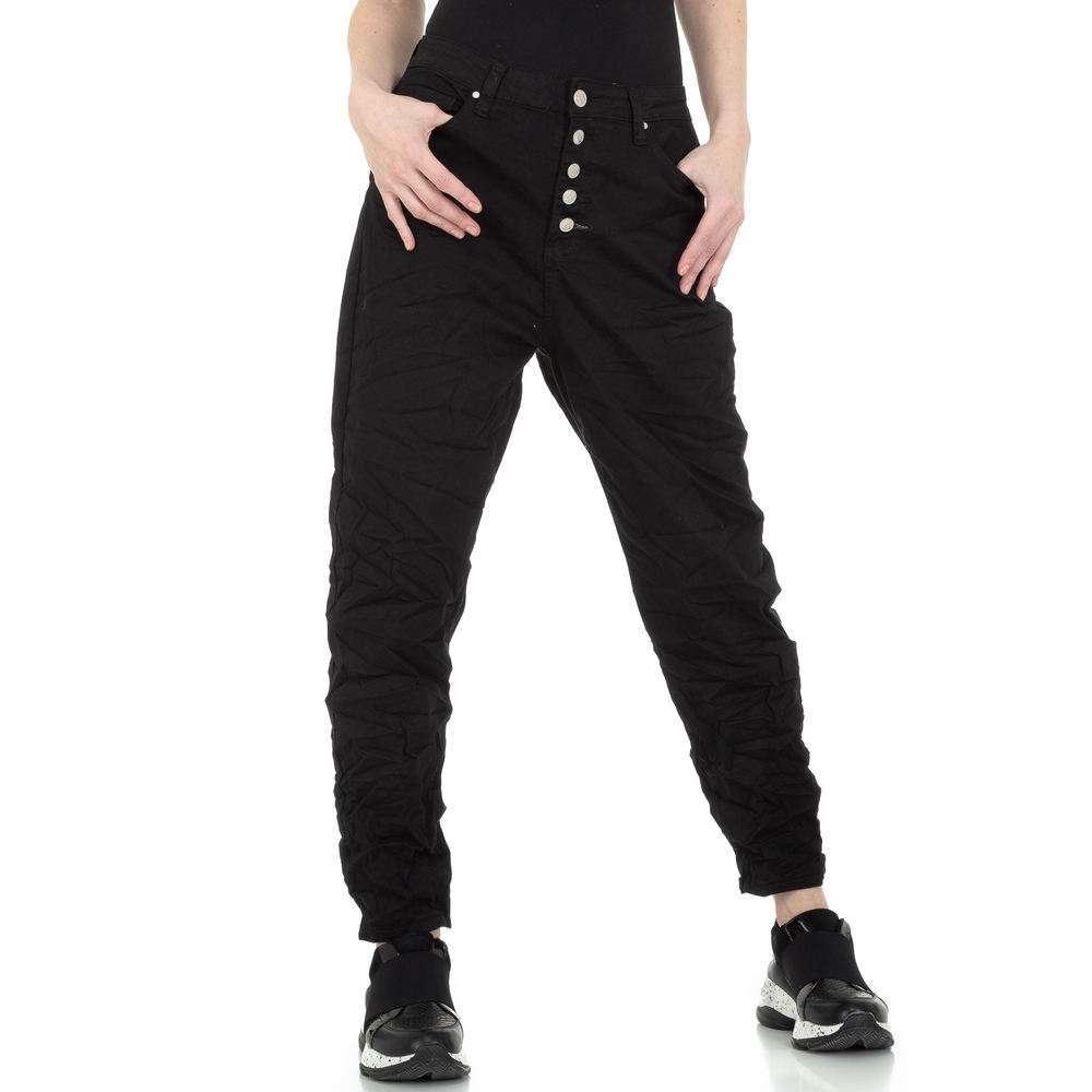 Pantaloni iubiți pentru femei de la Denim colorat - negru