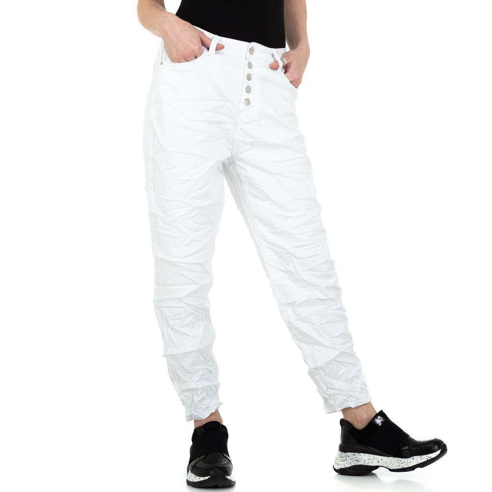 Pantaloni iubiți de femei de la Denim colorat - alb