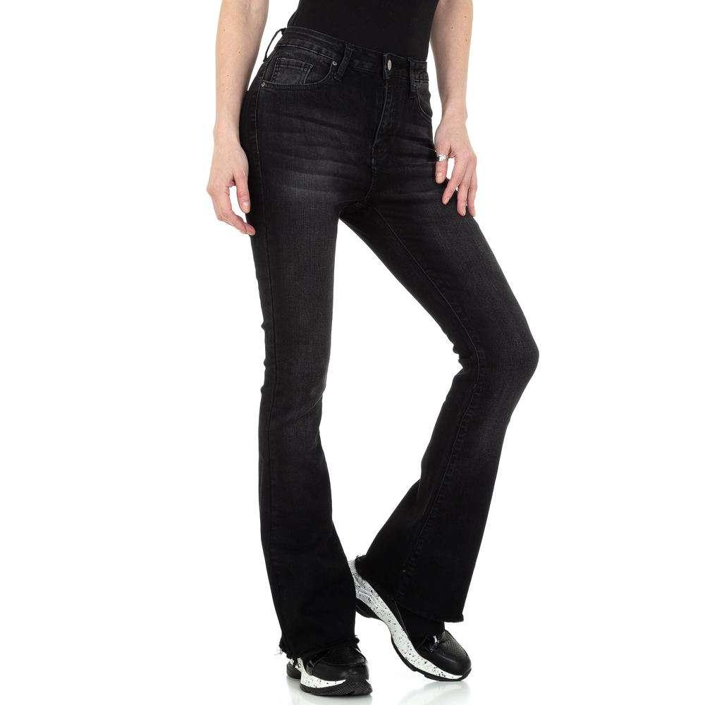 Blugi bootcut pentru femei de la Denim colorat - negru