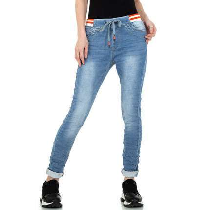 Damen Boyfriend Jeans von Jewelly Jeans - blue