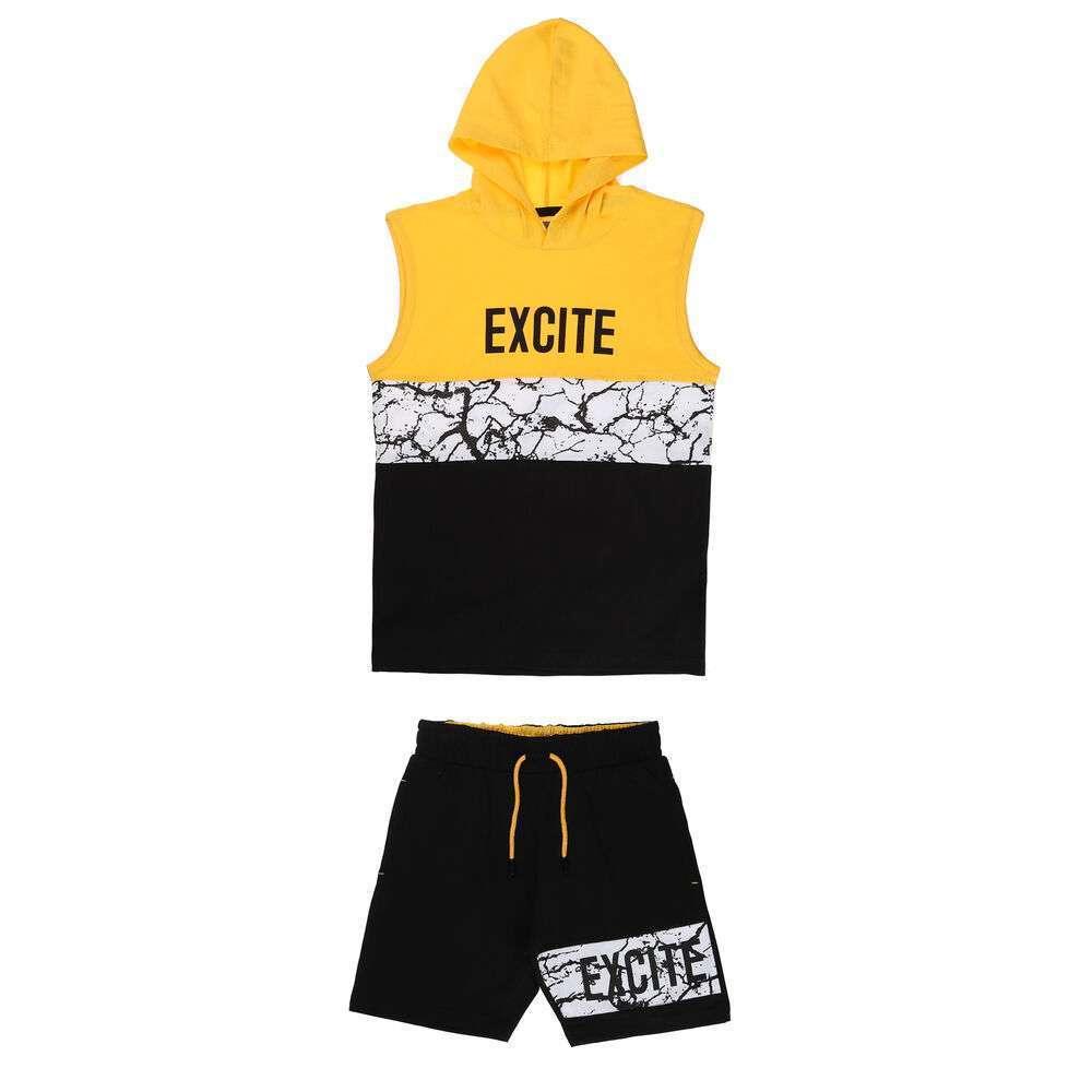 Costum sport pentru băieți de la Glo storye - galben