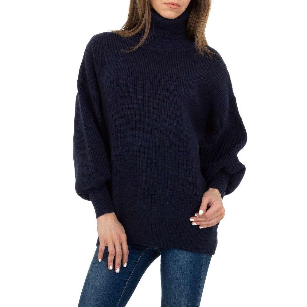 Pulover tricotat pentru femei de Voyelles Gr. O singură mărime - DK.blue