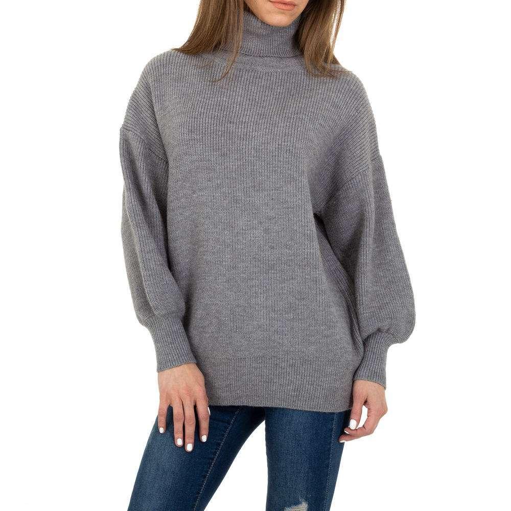 Pulover tricotat pentru femei de Voyelles Gr. O singură mărime - gri