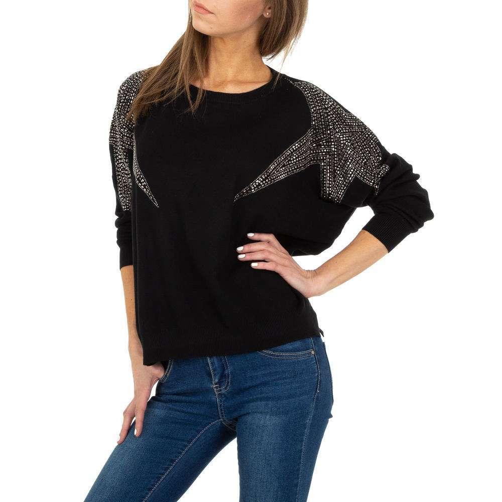 Pulover tricotat pentru femei de Voyelles Gr. O singură mărime - negru