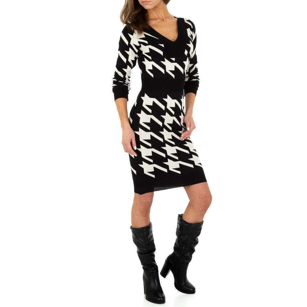 Rochie tricotată pentru femei de Emma & Ashley Design - negru-bej