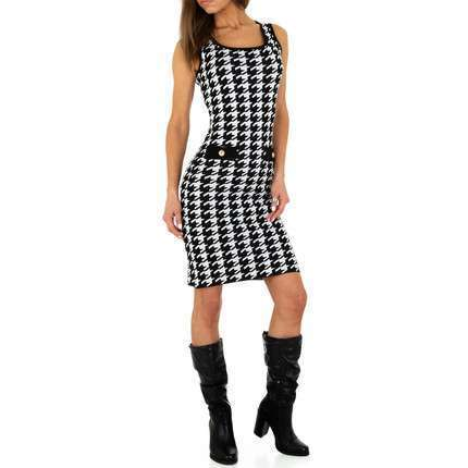 Damen Strickkleid von Emma&Ashley Design - blackwhite