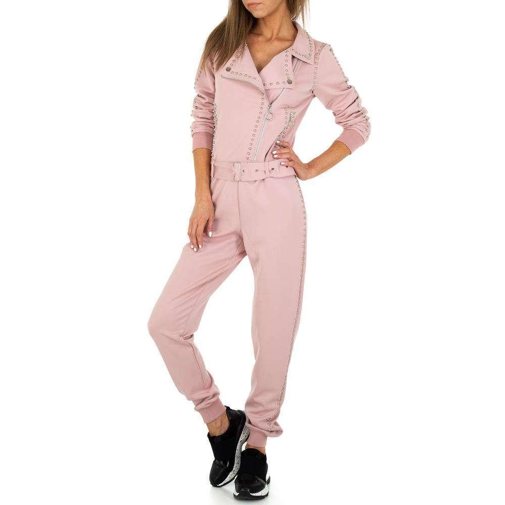 Salopetă lungă pentru femei de Emma & Ashley Design - roz