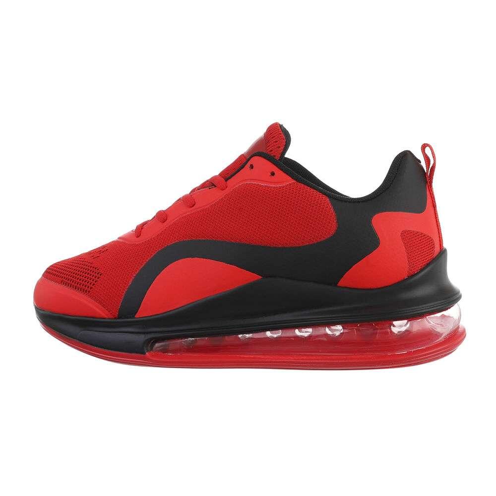 Pantofi casual pentru bărbați - negru-roșu