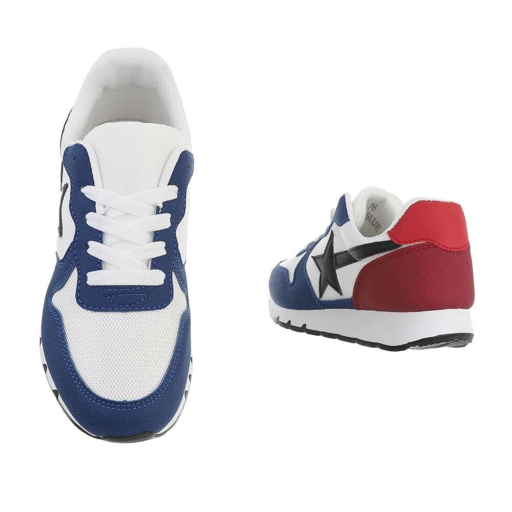 Teniși pentru femei - albastru-albastru - image 3