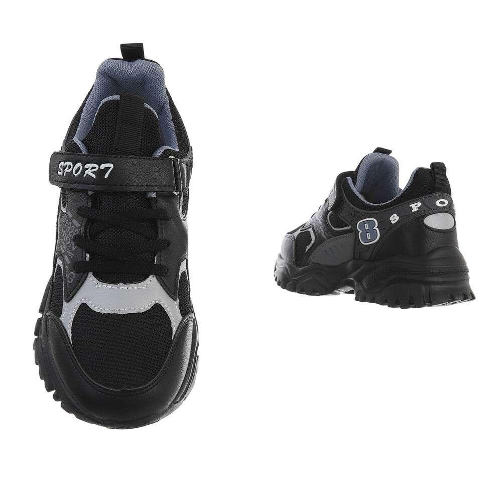 Pantofi casual pentru copii - negri - image 3