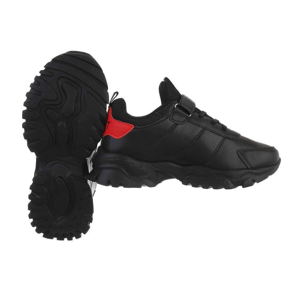 Pantofi casual pentru copii - negri - image 2