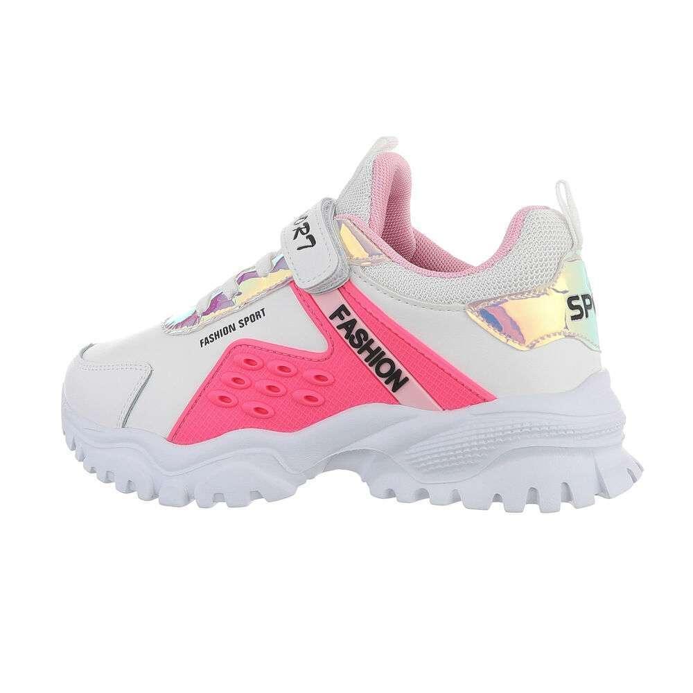 Pantofi casual pentru copii - albi