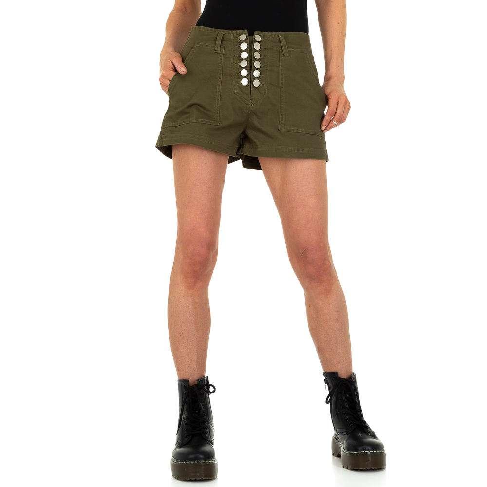 Pantaloni fierbinți pentru femei din - kaki