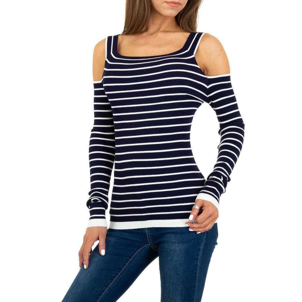 Pulover tricotat pentru femei Gr. O singură mărime - albastru