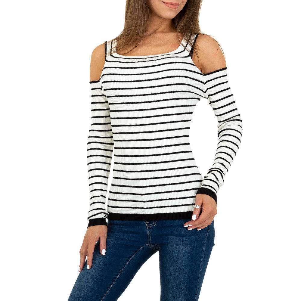 Pulover tricotat pentru femei Gr. O singură mărime - alb negru