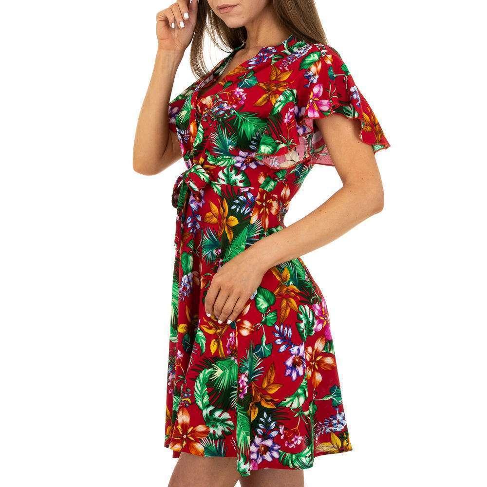 Mini rochie pentru femei - roșie - image 2