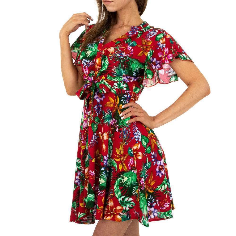 Mini rochie pentru femei - roșie - image 4