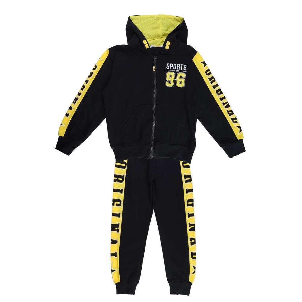 Costum sport pentru băieți de Seagull - negru