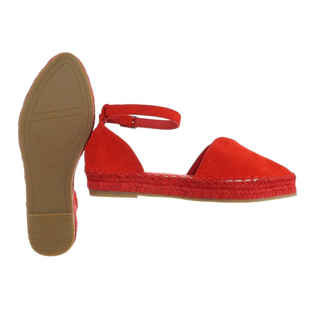 Espadrile pentru femei - roșii - image 2