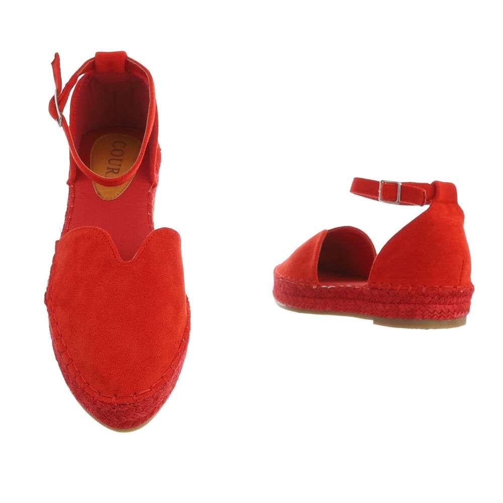Espadrile pentru femei - roșii - image 3