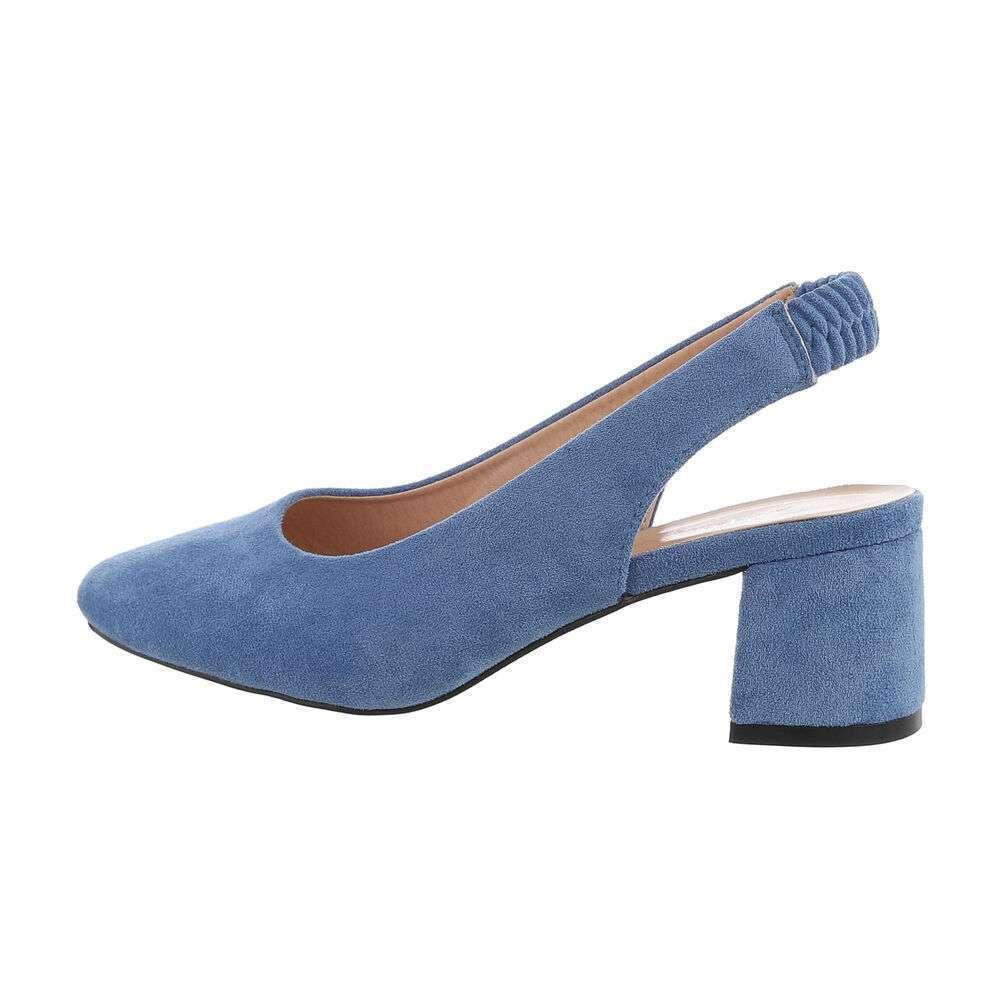 Pantofi clasici pentru femei - albastre