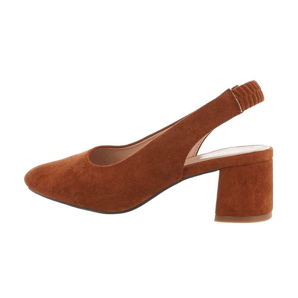 Pantofi clasici pentru femei - cămilă