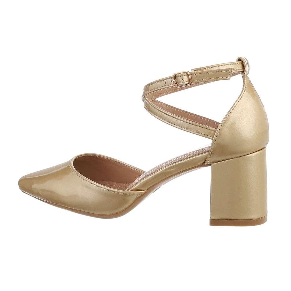Pantofi clasici pentru femei - aurii