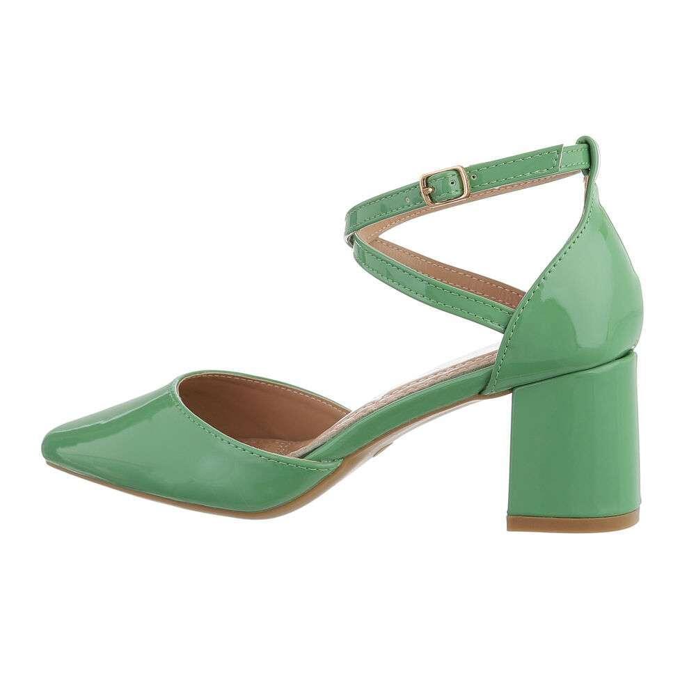 Pantofi clasici pentru femei - verzi