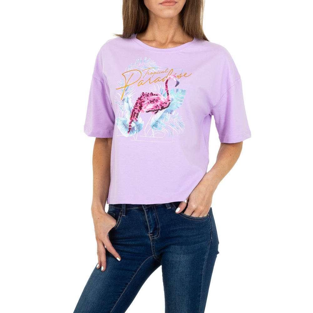 T-shirt femme Glo Story - violet