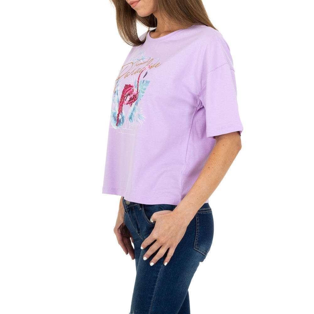 Tricou de dama de la Glo Story - mov - image 2