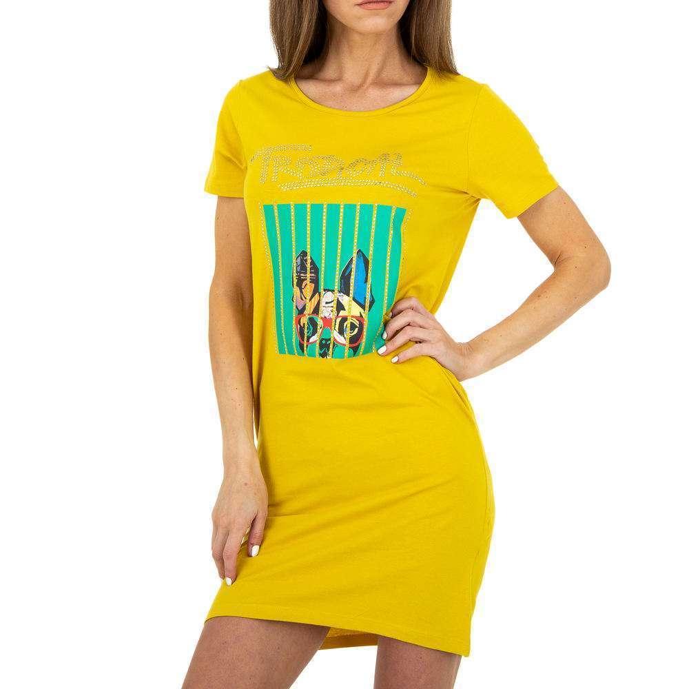 Rochie stretch pentru femei Glo Story - galbenă