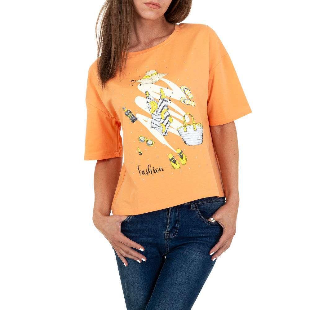 Tricou de dama de la Glo storye - portocaliu