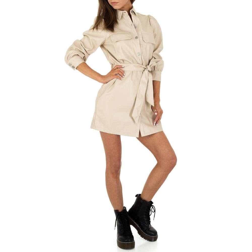 Rochie mini pentru femei de la SHK Paris - crem - image 1